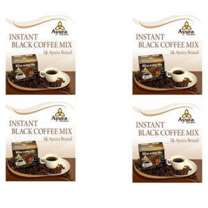 Instant black coffee Ayura herbal cu stevia la cea neagra