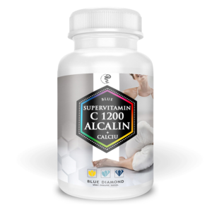 Blue supervitamin C 1200 Alcalin+Calciu - Vitamina C din ascorbat de calciu si maces