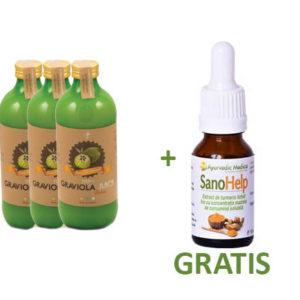 Graviola Suc / Piure 3+1 SanoHelp 10 ml GRATIS